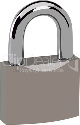 Realistic illustration lock