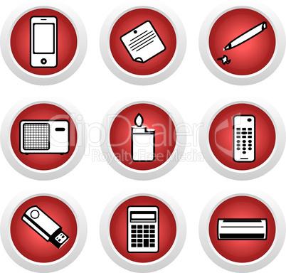 Icon set of home appliances