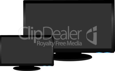Realistic illustration of plasma LCD TV