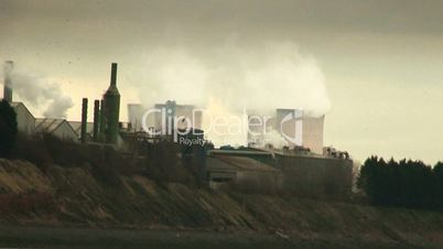Steam from coal fired power station
