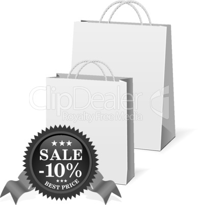 Vector shopping paper bags