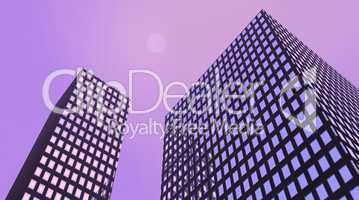 Violet buildings