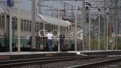 Bahnhof, Bahnsteig in Rosarno,