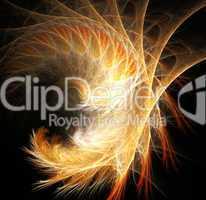 Swirl fiery fractal