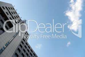 Scene - office building and cloud