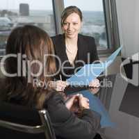 Gespräch mit Kunden