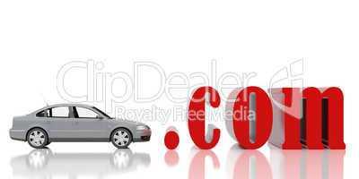 Red symbol com