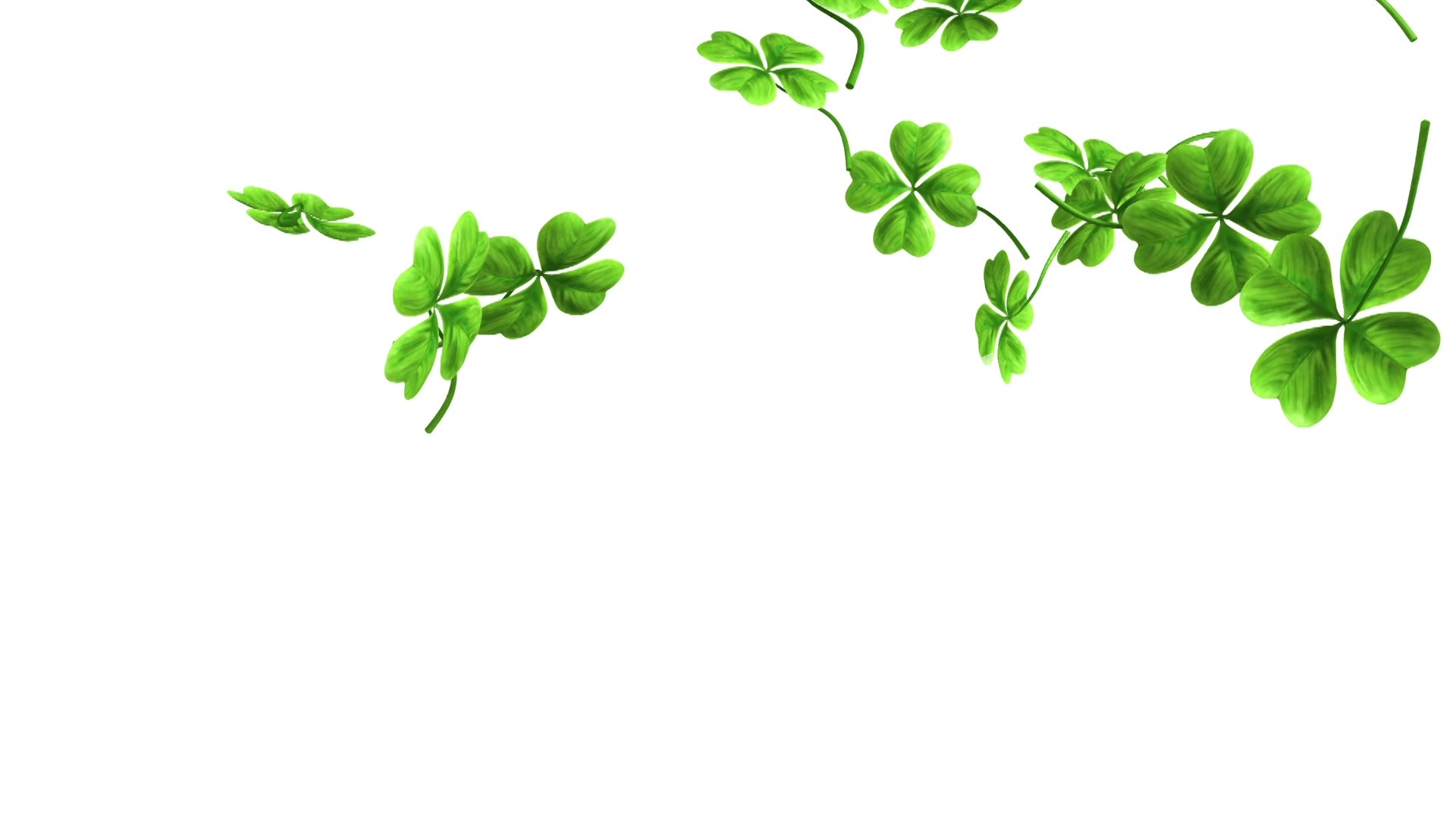 falling shamrock leaves royalty free video and stock footage