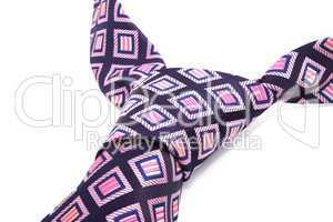 purple textile necktie