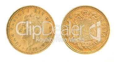 Una or 1 peseta - former Spanish money