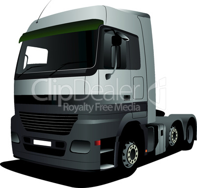 Vector illustration of grey truck