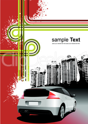 Cover for brochure with urban background