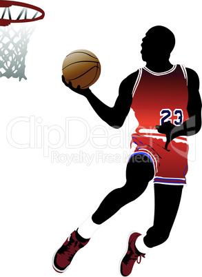 Basketball players. Vector illustration