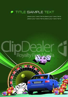 Casino elements with car image