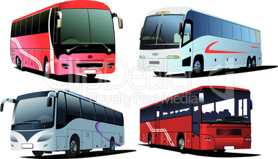 Four city buses