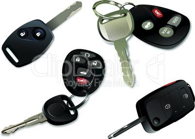 Four Car keys