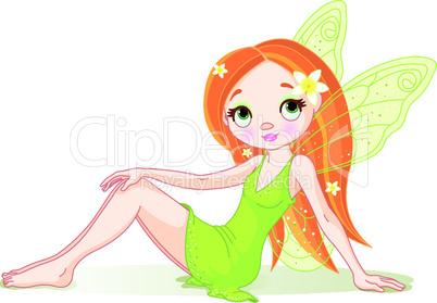 Cute green fairy