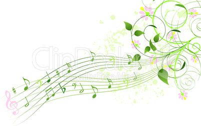 Spring song background