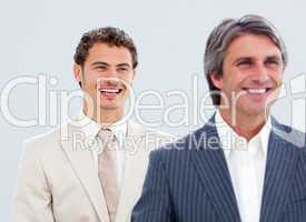 Portrait of a mature businessman and his colleague
