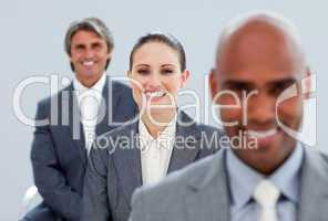 Confident business partners standing