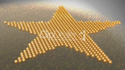 Star shape made of golden shiny balls - Loopable