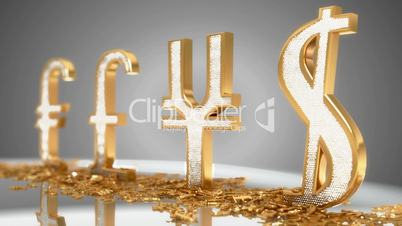 Golden Dollar, pound, euro and yen – loopable