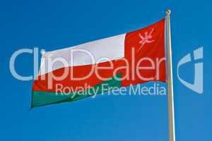 Nationalflagge von Oman, national flag of Oman