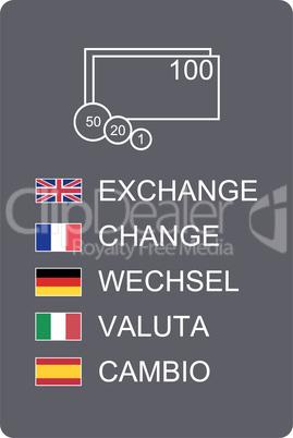Hinweis Wechselstube