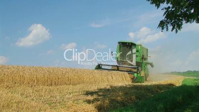 Combine Harvesting Wheat 07