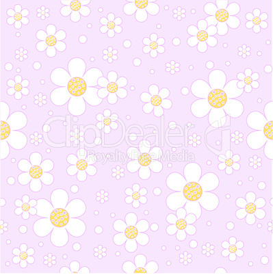 Flower background. Seamless.