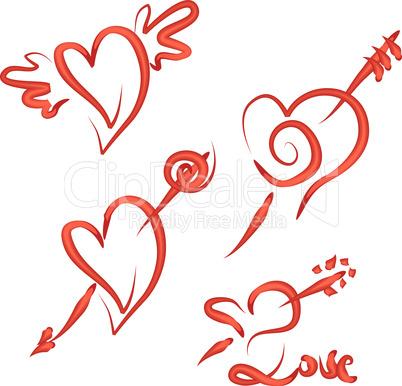 Valentine's Hearts Set