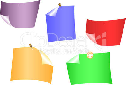Varicoloured sheets of paper.