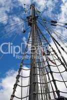 Großmast eines Segelschiffes