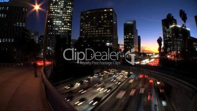 Zeitraffer, Verkehr bei Nacht