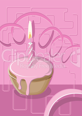 Muffin mit Kerze - Muffin with Candle