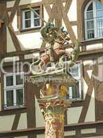 Brunnenfigur in Rothenburg