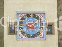 Uhr am Siebersturm in Rothenburg
