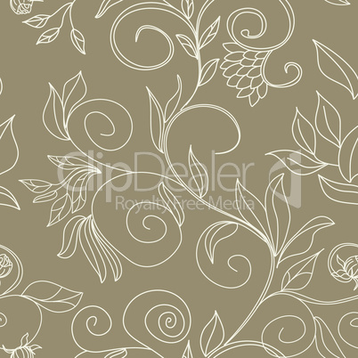 stylish colorful floral seamless wallpaper