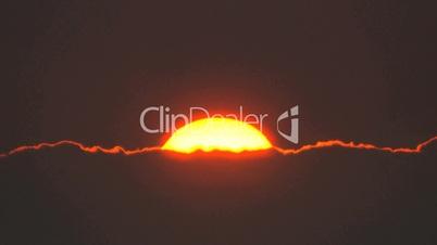 Zeitraffer von Sonnenaufgang