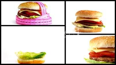 Hamburger montage