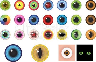 Multicolored Eyes - Design elements