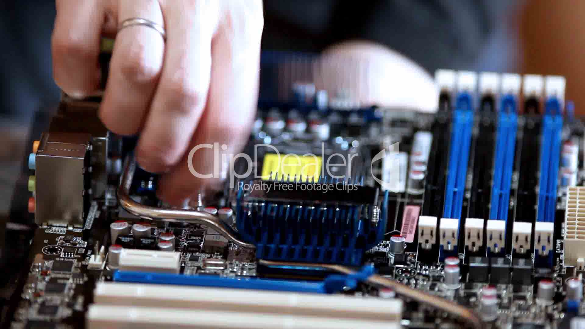 Assembly Computer Fix Screw Royalty Free Video And Stock Footage Electronic Circuit Boards Image Clips