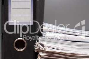 Folder and pack of documents