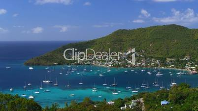 Time Lapse Movie Bequia Island, St. Vincent & The Grenadines, Caribbean