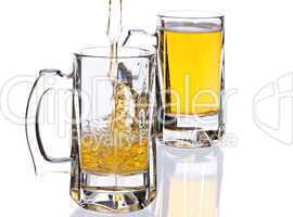 mugs with beer