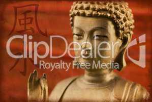 Buddha chinesisches Zeichen Feng Shui
