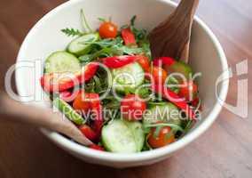 Close-up of a fresh salad