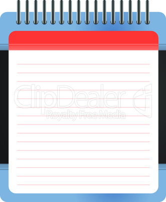 Blank white notepad