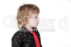 Little boy looking away
