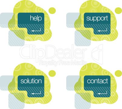 Help, Support, Solution, Contact Graphics